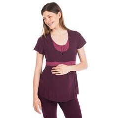 T-shirt korte mouwen voor tijdens de zwangerschap geschikt voor borstvoeding