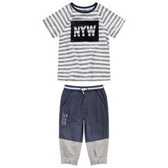 Junior - T-shirt met korte mouwen uit jerseystof met print van velours