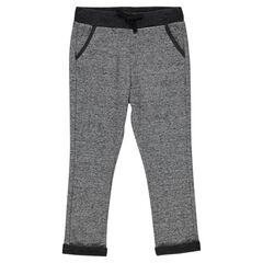 Pantalon loose en molleton chiné