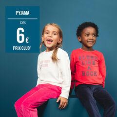 Pyjama van velours in twee kleuren met print met boodschap