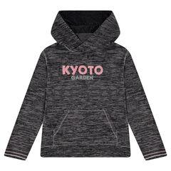 Junior - Sweat à capuche en tricot fin avec textes printés