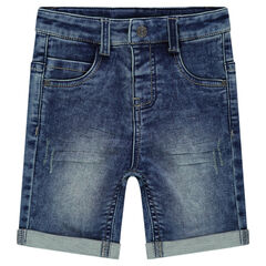 Bermuda en molleton effet denim used