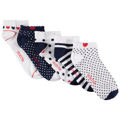 Lot de 5 paires de chaussettes courtes à motifs graphiques