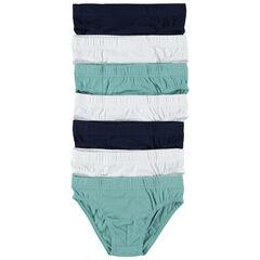 Lot de 7 slips en coton unis