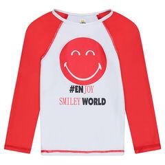 Tee-shirt de bain anti-UV SPF 50+ print ©Smiley