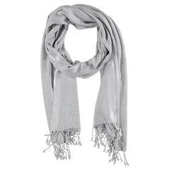 Sjaal met zilveren banden