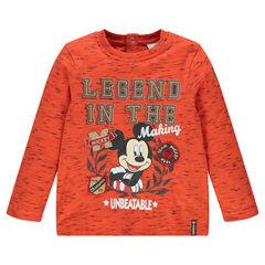 Tee-shirt manches longues en slub Disney print Mickey