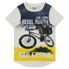 Tee-shirt manches courtes en jersey avec print esprit ride