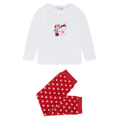 Pyjama en velours Disney avec coeur brodé et Minnie printée
