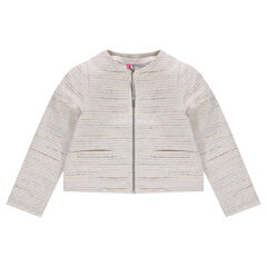 Veste en coton effet tweed pailleté