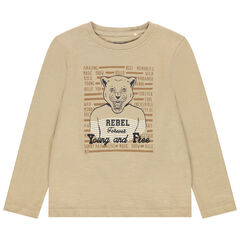 T-shirt manches courtes print tigre