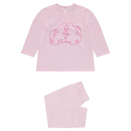 Pyjama uit jerseystof met wolkenprint