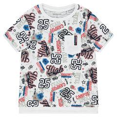 Lang T-shirt met korte mouwen