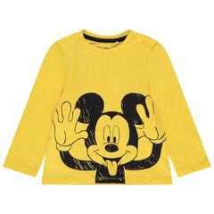 Disney-T-shirt met lange mouwen van biokatoen met Mickey-print