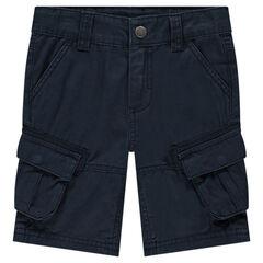 Bermuda en coton surteint à poches style cargo