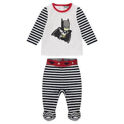 Pyjama van velours met strepen en print van ©Warner Batman
