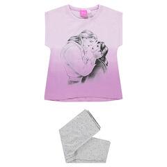 Pyjama court en jersey print Disney Belle