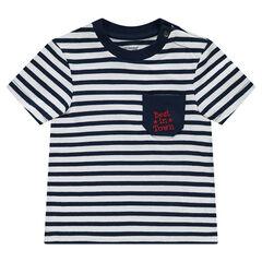 Tee-shirt manches courtes rayé en jersey