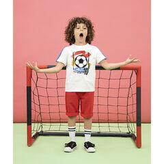 T-shirt manches courtes print ballon de foot