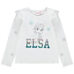 T-shirt manches longues en jersey print Elsa Reine de neiges Disney