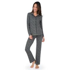 Pyjama de grossesse avec chemisier et pantalon imprimés all-over