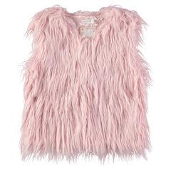 Junior - Roze vest van namaakbont