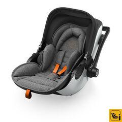 Autostoel gr 0+ isofix Evoluna i-size 2 - Grey melange/safe orange