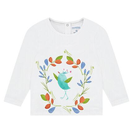 T-shirt met lange mouwen uit jerseystof met kleurrijke print