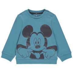 Sweat en molleton uni print Mickey Disney