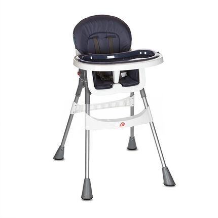 Chaise haute Basic - Bleu-gris