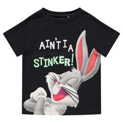 Tee-shirt manches courtes avec print Bugs Bunny ©Warner/Looney Tunes