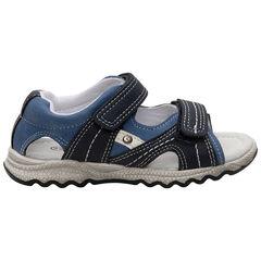 Nu-pieds à empiècements contrastés et scratchs , SAXO BLUES