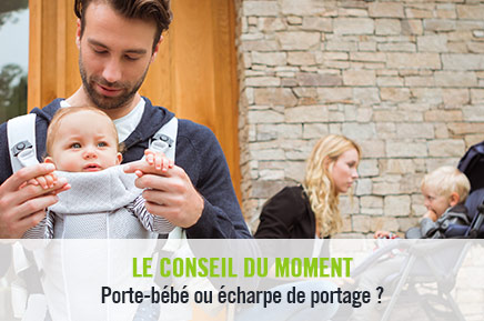 Porte-bébé ou écharpe de portage