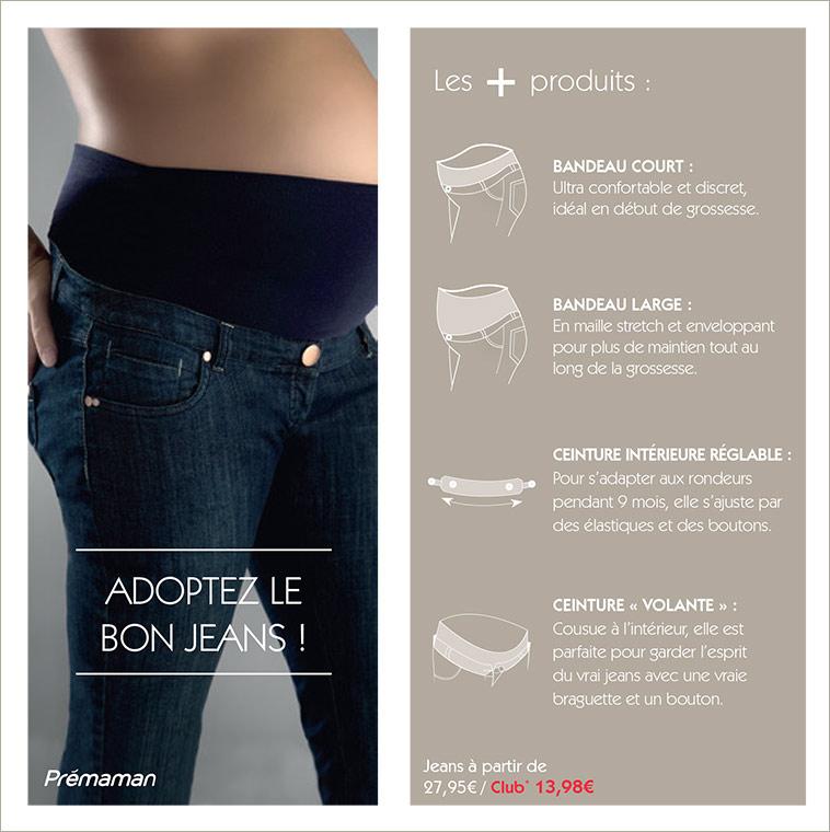Jeans de grossesse collection prémaman 98e4f6e864b