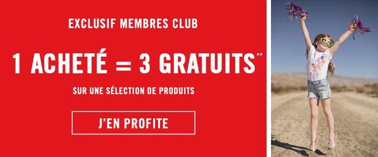 Offre 1 acheté = 3 gratuits exclusif membres Club Orchestra 2018